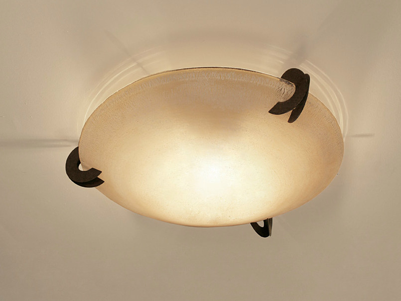 Halogen glass ceiling lamp SOLUNE | Ceiling lamp by TERZANI