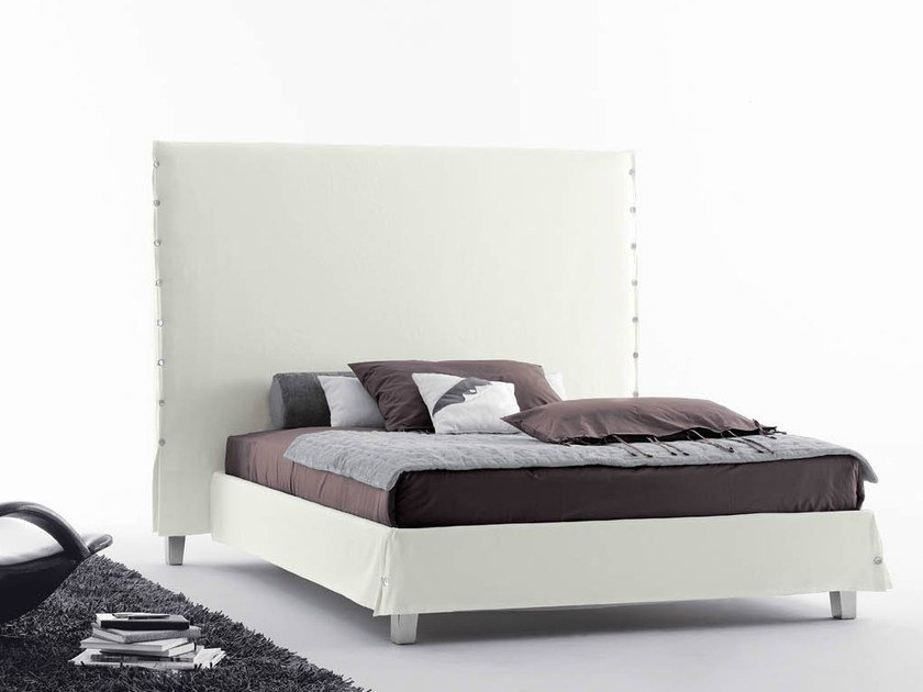 Double bed with high headboard WHITE | Bed with high headboard by Casamania & Horm