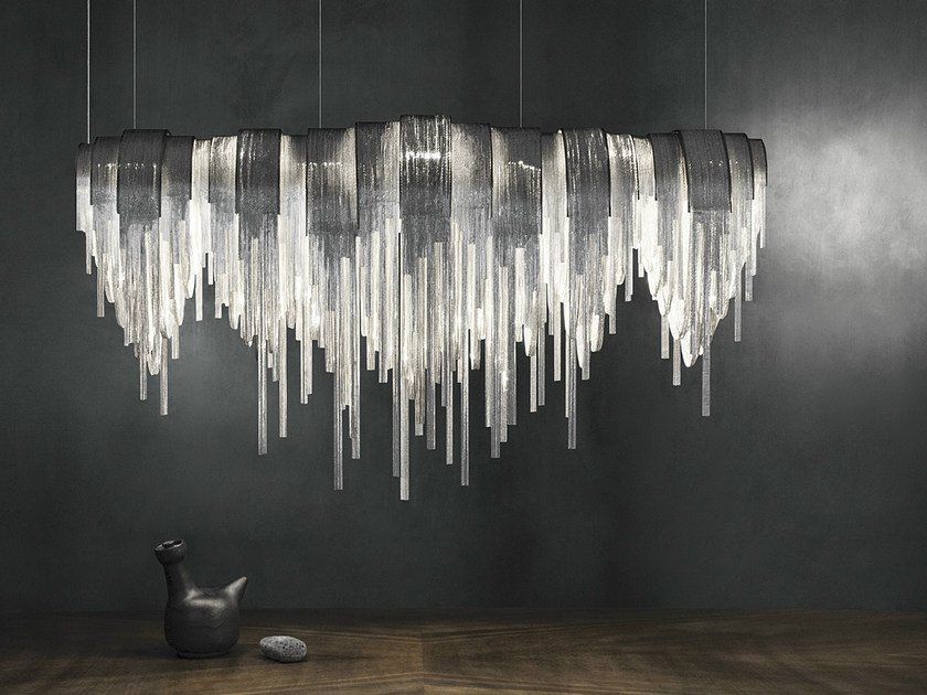 LED metal pendant lamp VOLVER | Pendant lamp by TERZANI