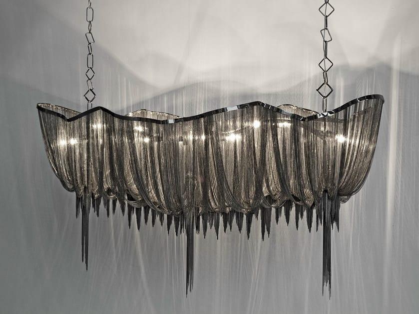 Halogen nickel pendant lamp ATLANTIS   Pendant lamp by TERZANI