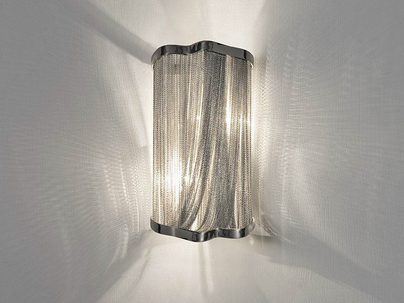 Halogen nickel wall light ATLANTIS | Wall light by TERZANI