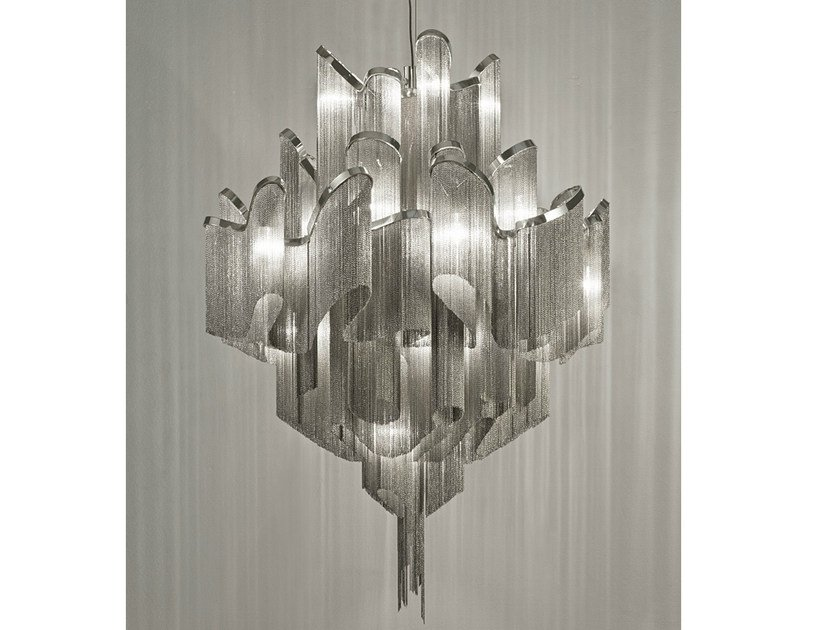 Halogen metal pendant lamp STREAM | Pendant lamp by TERZANI