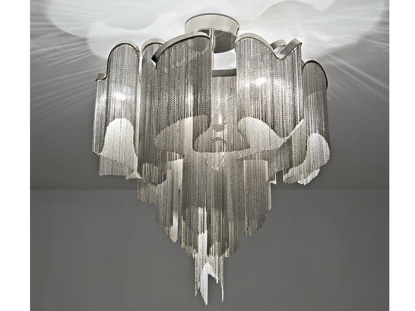Halogen metal ceiling lamp STREAM | Ceiling lamp by TERZANI