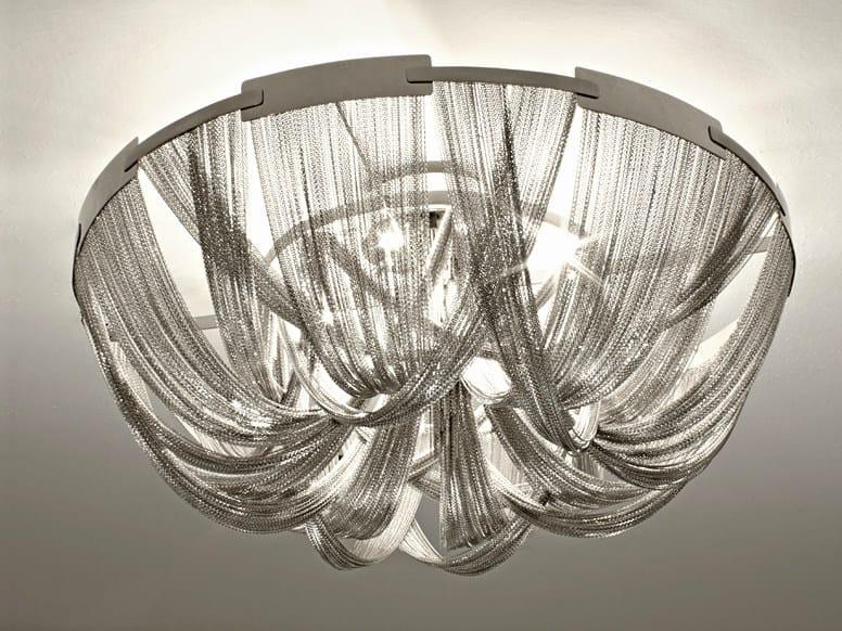 Halogen metal ceiling lamp SOSCIK | Ceiling lamp by TERZANI