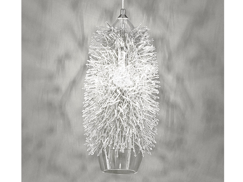 Halogen crystal pendant lamp SEA URCHIN | Crystal pendant lamp by TERZANI
