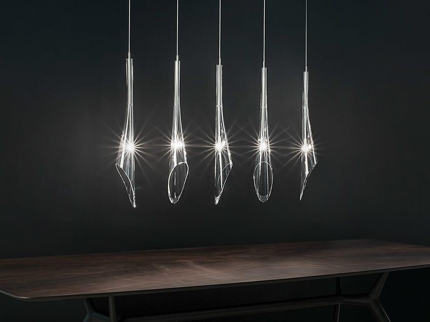 Halogen crystal pendant lamp CALLE | Crystal pendant lamp by TERZANI