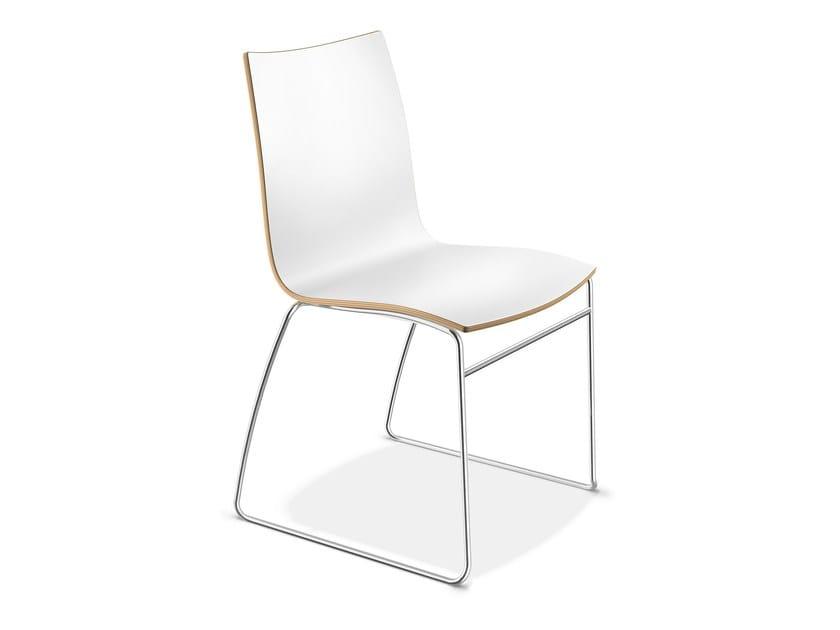 Sled base laminate chair ONYX I | Laminate chair by Casala