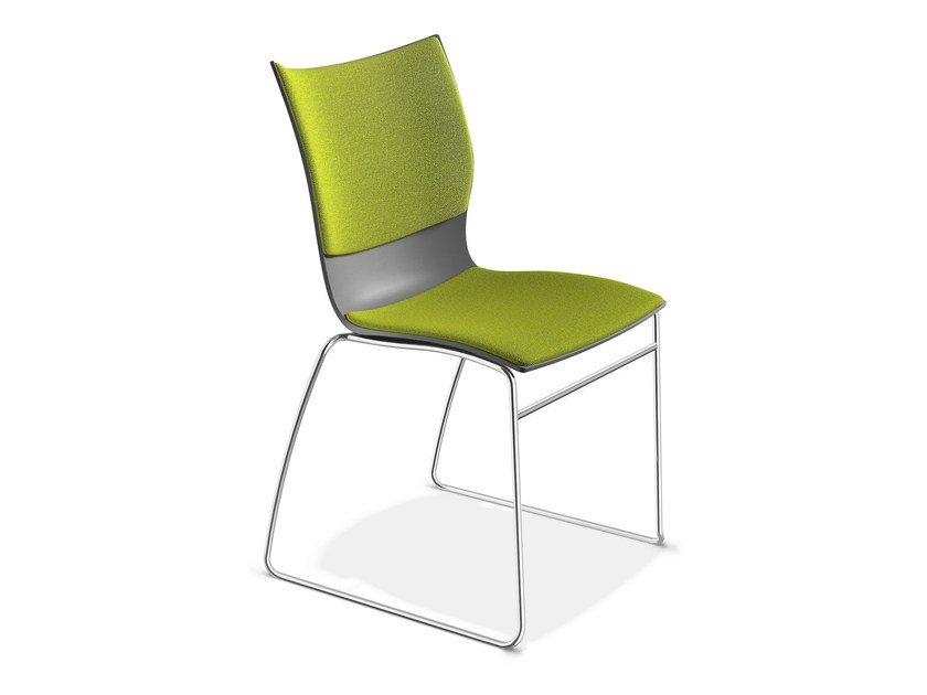 Sled base fabric chair ONYX I | Fabric chair by Casala