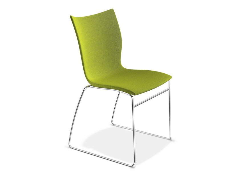 Sled base upholstered chair ONYX I   Upholstered chair by Casala