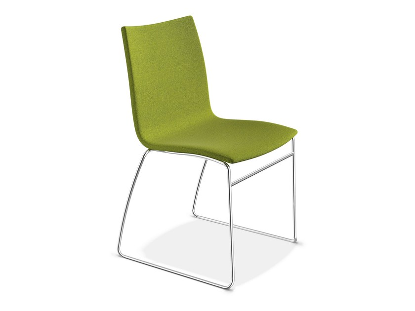 Sled base upholstered chair ONYX I | Upholstered chair by Casala
