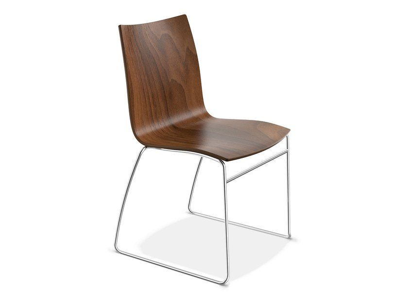 Sled base wooden chair ONYX I | Wooden chair by Casala