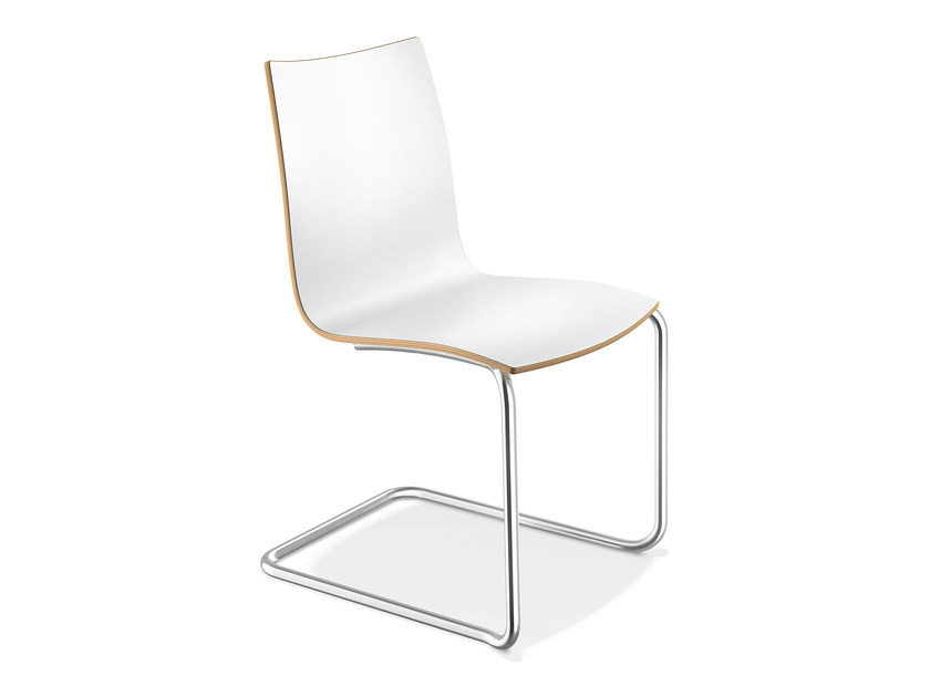 Cantilever laminate chair ONYX II   Laminate chair by Casala