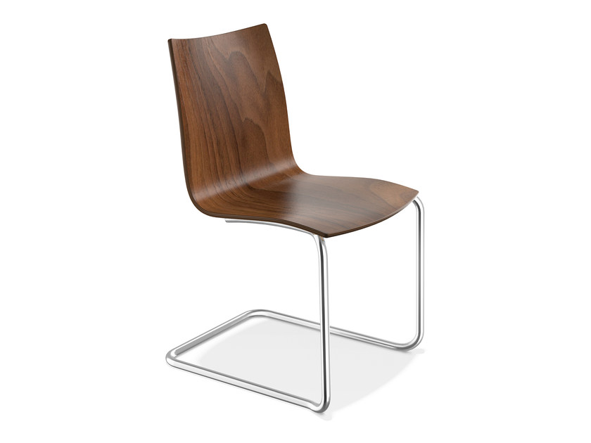 Cantilever wooden chair ONYX II | Wooden chair by Casala