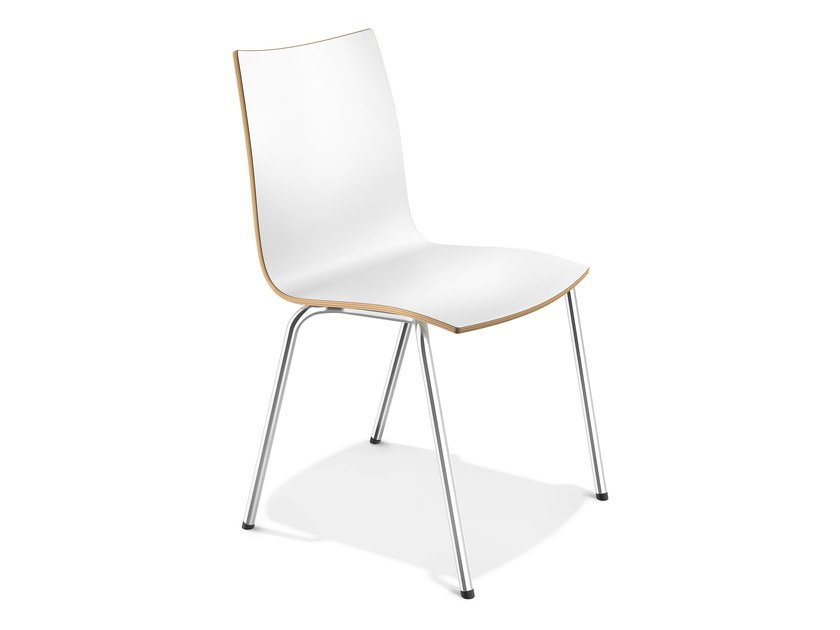 Stackable laminate chair ONYX III | Laminate chair by Casala