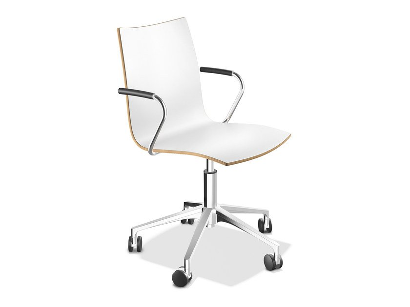 Laminate chair with armrests ONYX IV   Chair with armrests by Casala