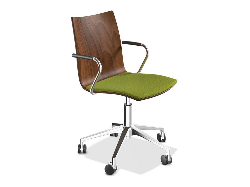 Wooden chair with 5-spoke base ONYX IV | Wooden chair by Casala
