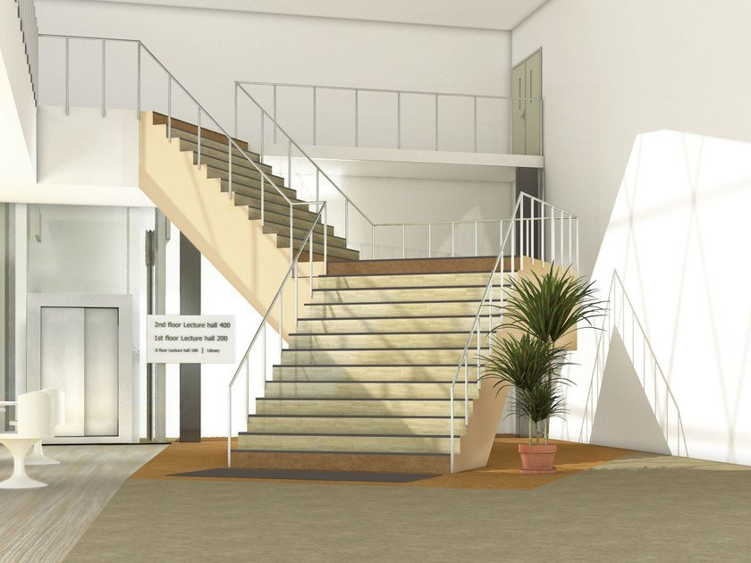 Rivestimento per scale in vinile tapiflex stairs by tarkett for Rivestimento scale in resina prezzi