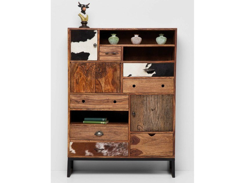 Solid wood highboard with doors RODEO | Highboard by KARE-DESIGN
