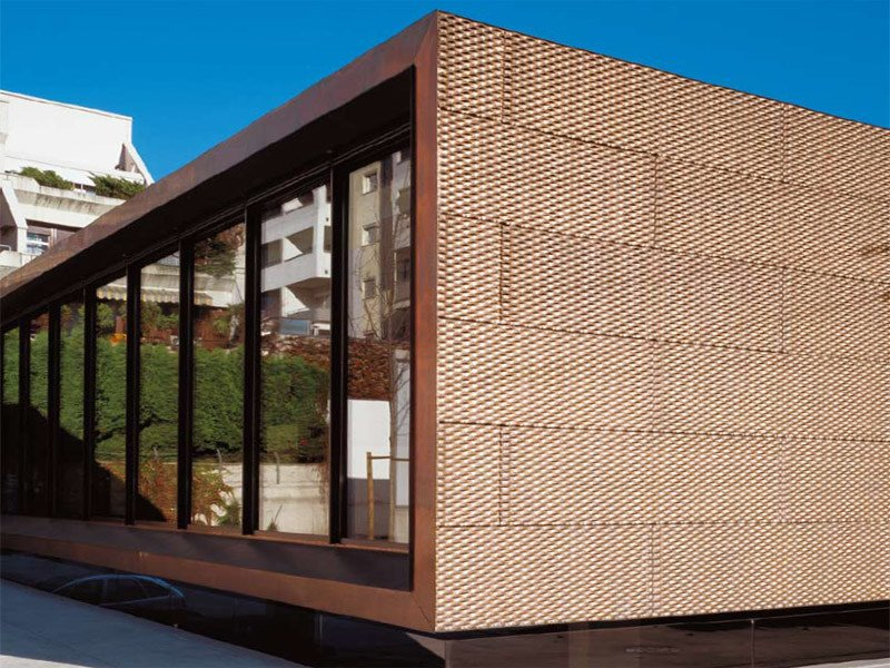 Metal sheet and panel for facade TECU® Bronze by KME Architectural