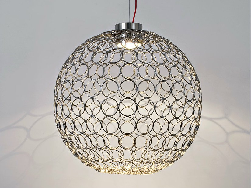 Halogen metal pendant lamp G.R.A.   Pendant lamp by TERZANI
