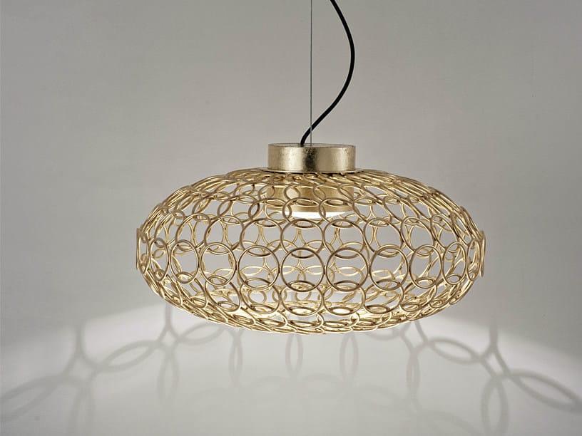Halogen metal pendant lamp G.R.A. | Pendant lamp by TERZANI