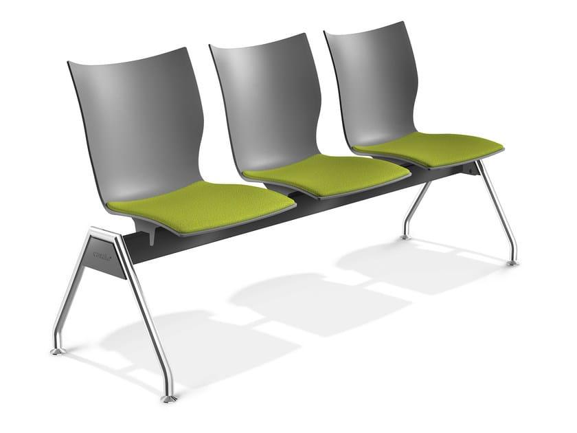Plastic beam seating ONYX TRAVERSE | Beam seating by Casala