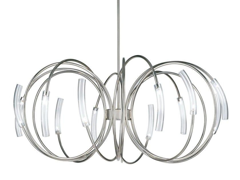 Halogen metal pendant lamp HOOK by TERZANI