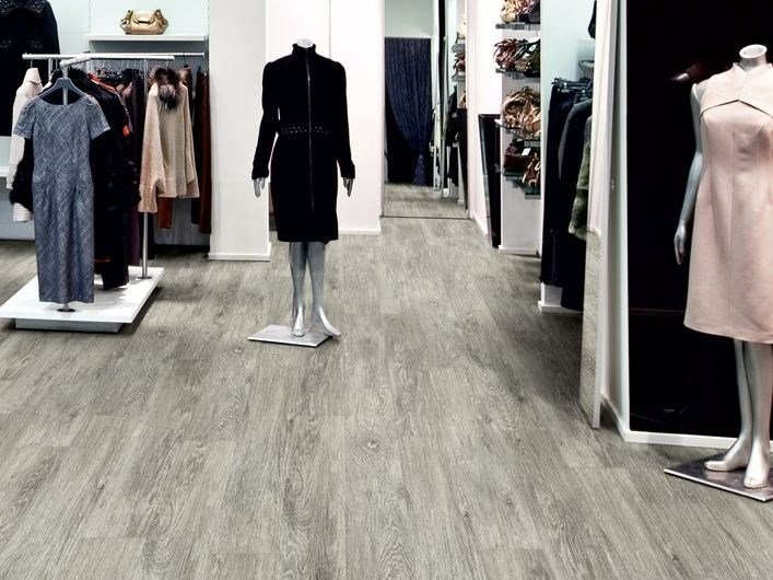 Resilient LVT flooring with wood effect iD INSPIRATION 55 by TARKETT