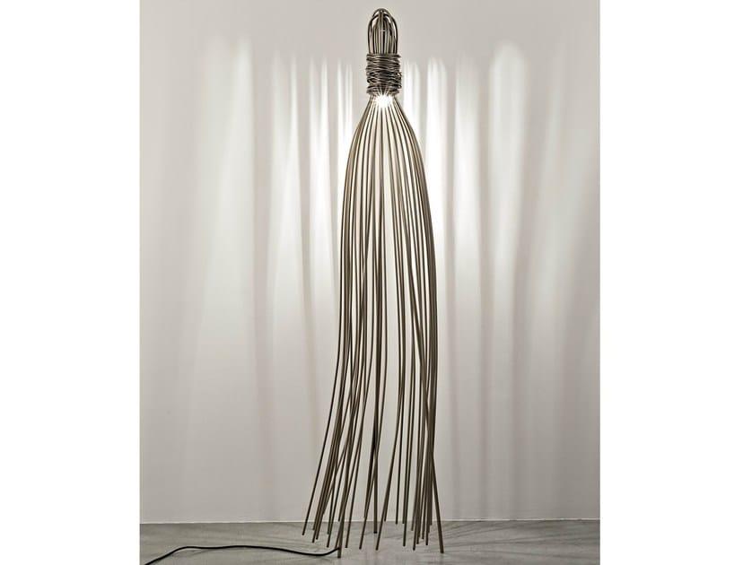 Halogen metal floor lamp HUGO by TERZANI