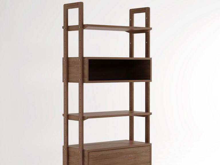Open freestanding wooden bookcase K/WSU | Bookcase by KARPENTER