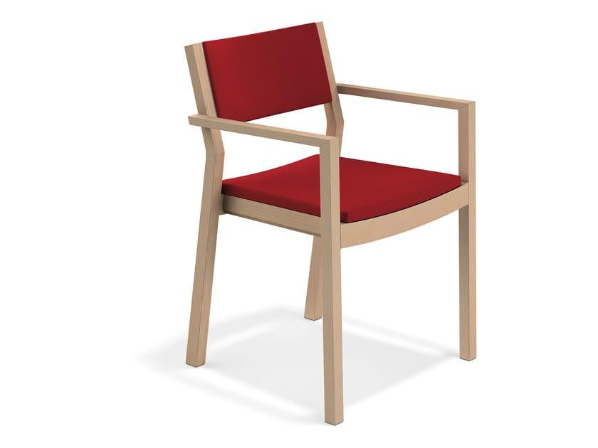 WOODY | Sedia con braccioli By Casala design rg.form