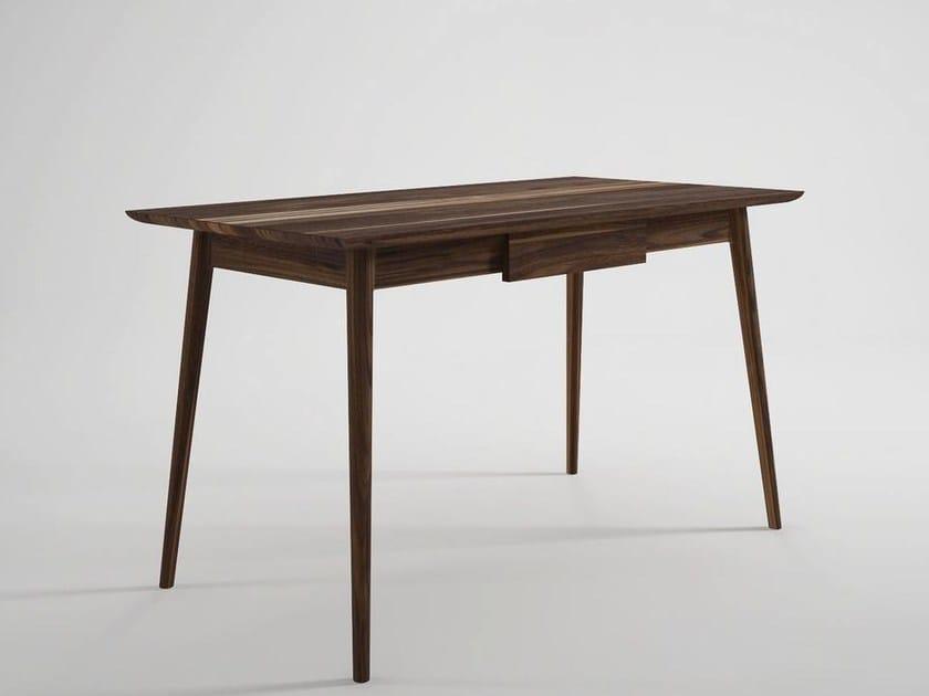 Rectangular wooden writing desk with drawers VINTAGE | Writing desk by KARPENTER