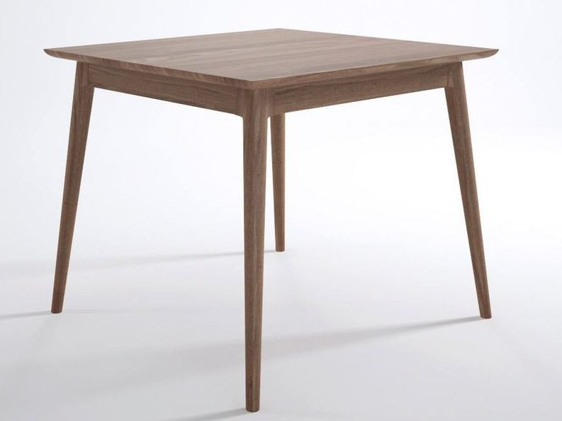 Square wooden living room table VINTAGE | Square table by KARPENTER