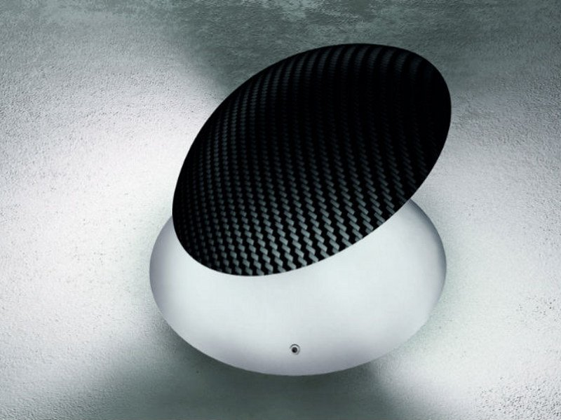 Adjustable carbon fibre wall light BALL AP by Vetreria Vistosi