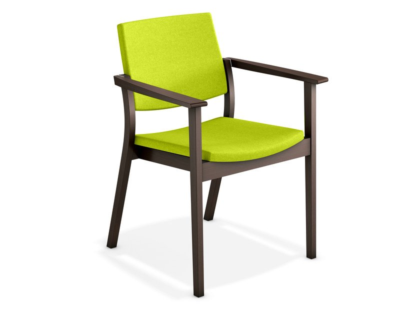 Upholstered chair with armrests SINA | Upholstered chair by Casala