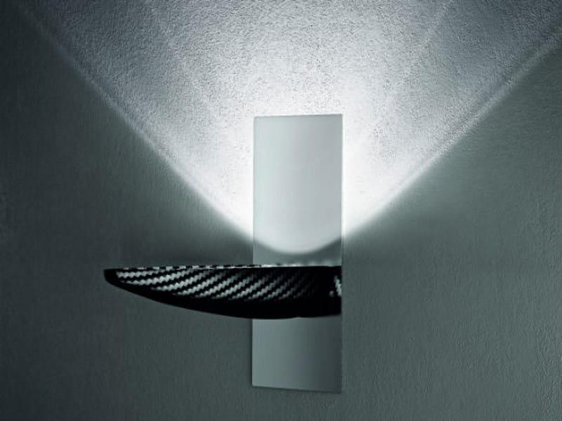 Carbon fibre wall light FLY AP by Vetreria Vistosi