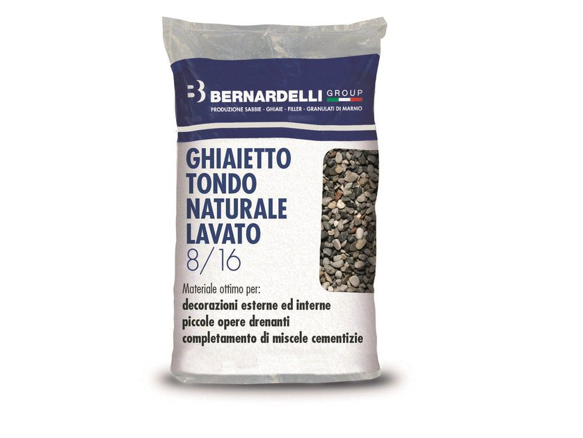 Gravel NATURAL WASHED ROUND GRAVELS 8/16 by Bernardelli Group
