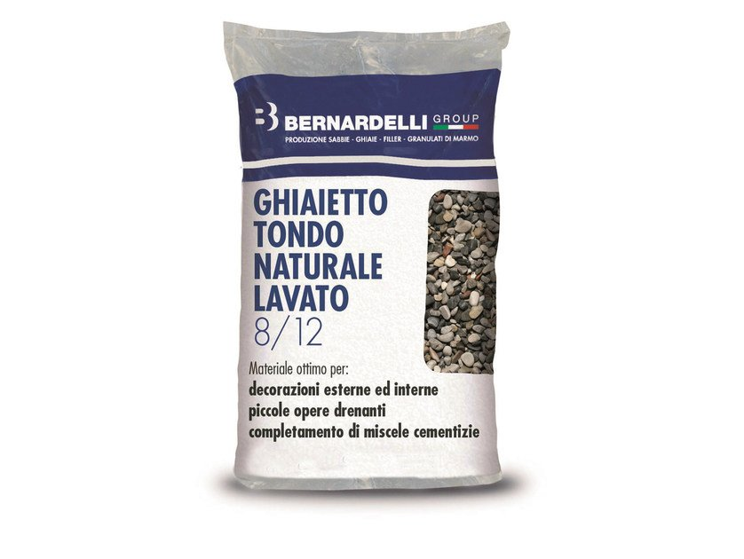 Gravel NATURAL WASHED ROUND GRAVELS 8/12 by Bernardelli Group