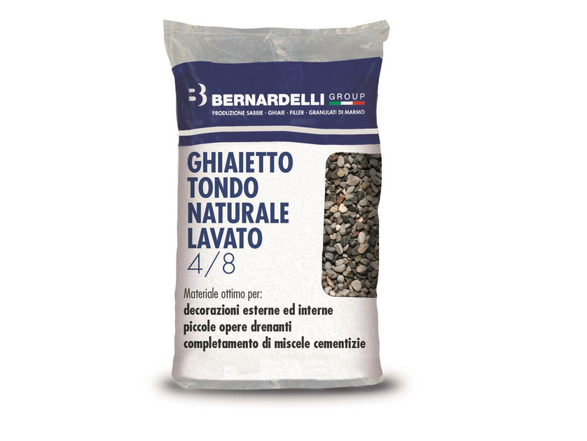 Gravel NATURAL WASHED ROUND GRAVELS 4/8 by Bernardelli Group