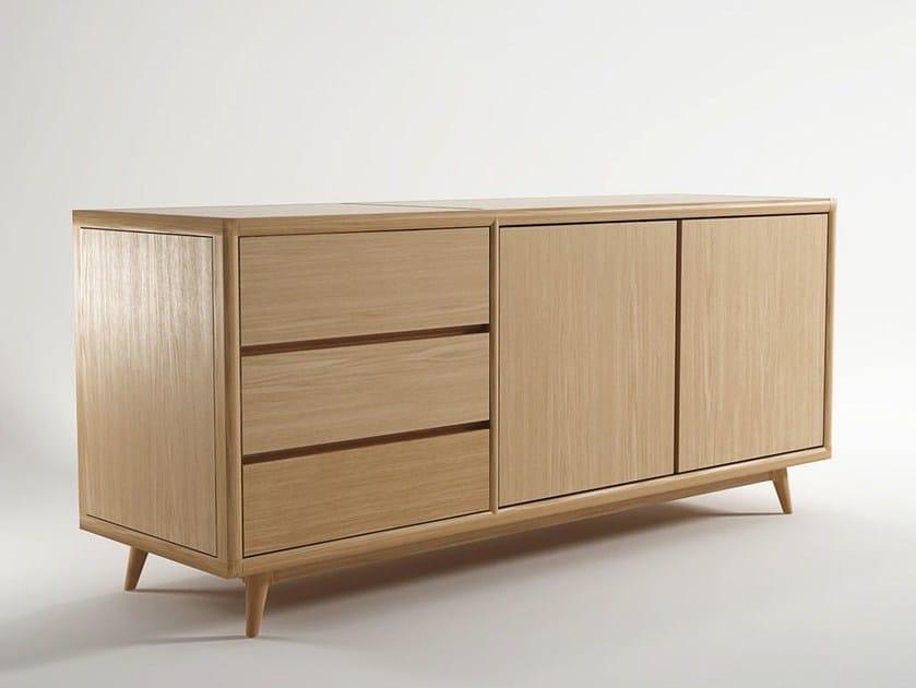 Wooden sideboard with doors VINTAGE | Sideboard with doors by KARPENTER