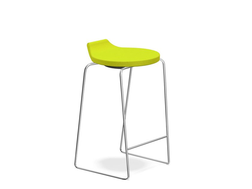 Low upholstered stool RAVELLE I | Low stool by Casala