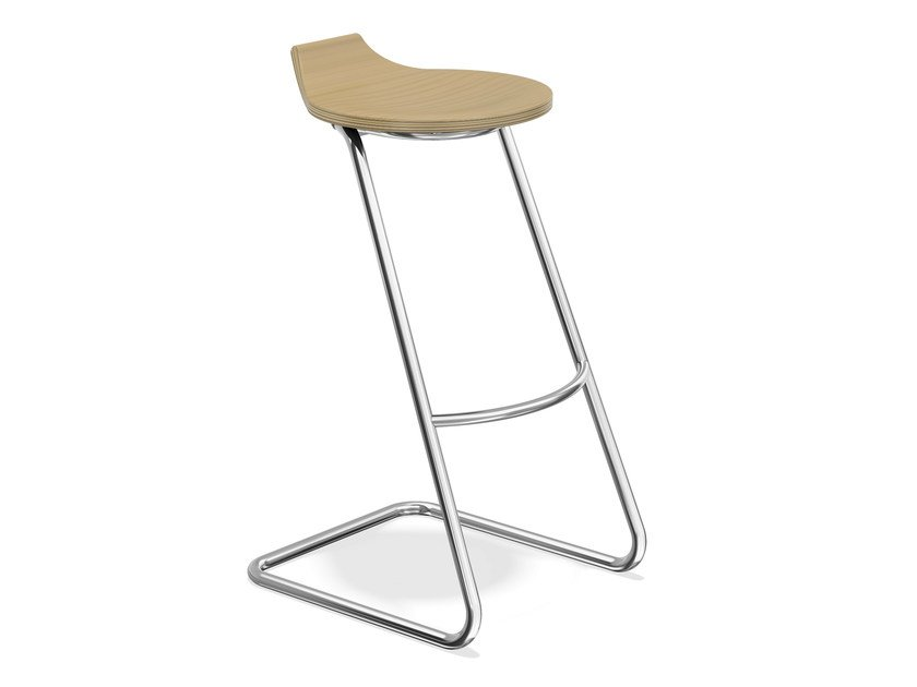 Cantilever wooden stool RAVELLE II   Wooden stool by Casala