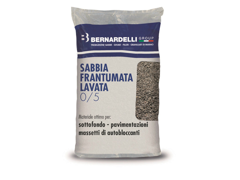 River sand / Ground, crushed and micronised CRUSHED WASHED SAND 0/5 by Bernardelli Group