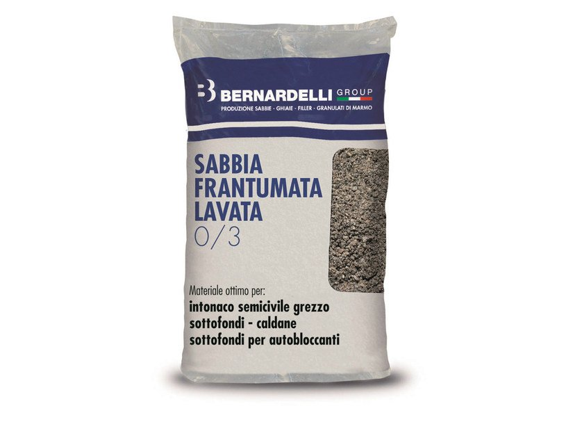 Aggregato naturale frantumato SABBIA FRANTUMATA LAVATA 0/3 by Bernardelli Group