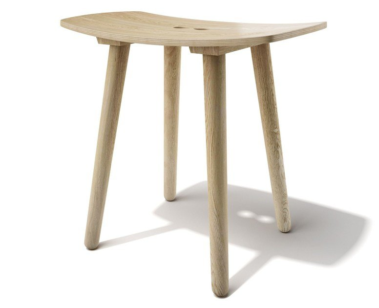 Low wooden stool PAUL | Wooden stool by sixay furniture