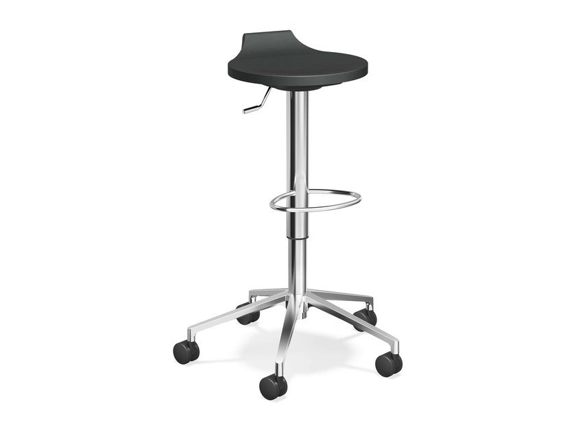 Stool with casters with footrest RAVELLE V | Stool with footrest by Casala
