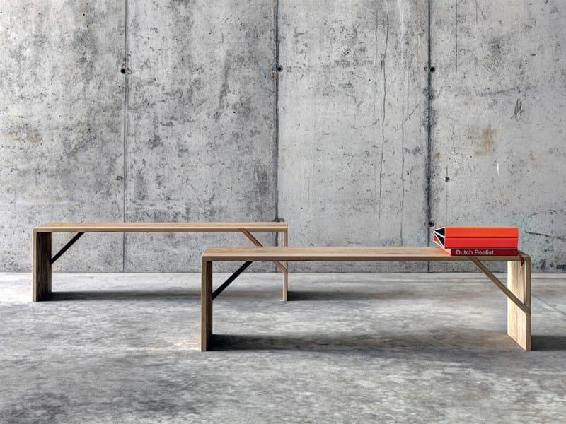 Chestnut bench TINTAN by FIORONI