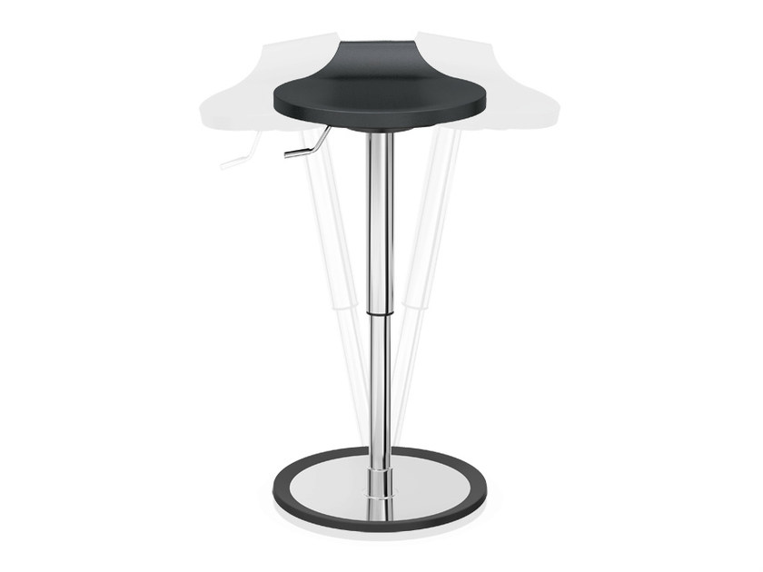 Expanded polyurethane stool with gas lift RAVELLE VI   Stool with gas lift by Casala