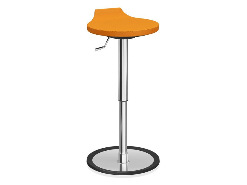Upholstered stool with gas lift RAVELLE VI | Upholstered stool by Casala