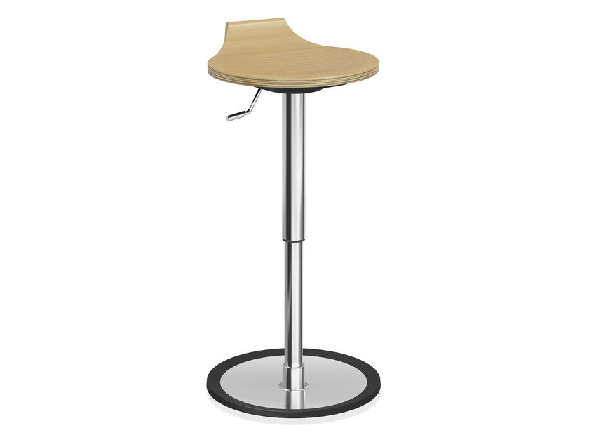 Wooden stool with gas lift RAVELLE VI | Wooden stool by Casala